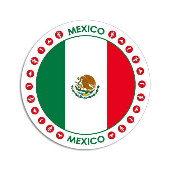 Mexico sticker rond 14,8 cm landen decoratie