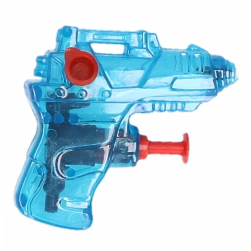 Mini waterpistool blauw 7 cm