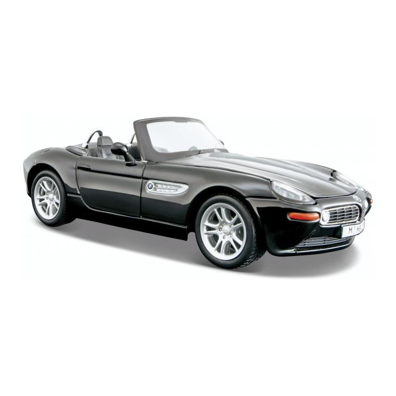 Modelauto BMW Z8 zwart schaal 1:24/18 x 7 x 5 cm