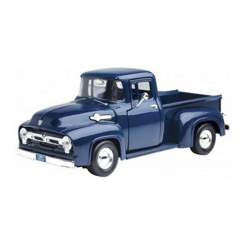 Modelauto Ford F-100 1956 blauw schaal 1:24/19,5 x 8 x 6 cm