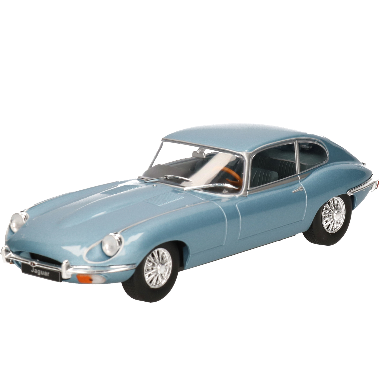 Modelauto Jaguar E-Type 1970 lichtblauw schaal 1:24/19 x 7 x 5 cm