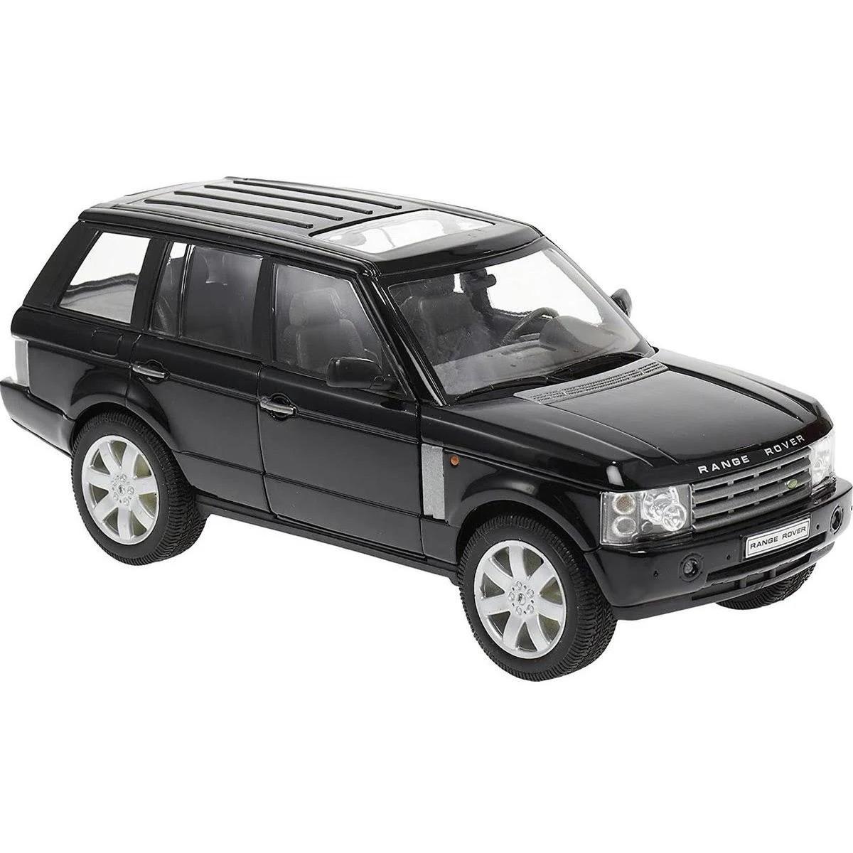 Modelauto Land Rover Range Rover 2003 zwart schaal 1:24/20 x 8 x 7 cm
