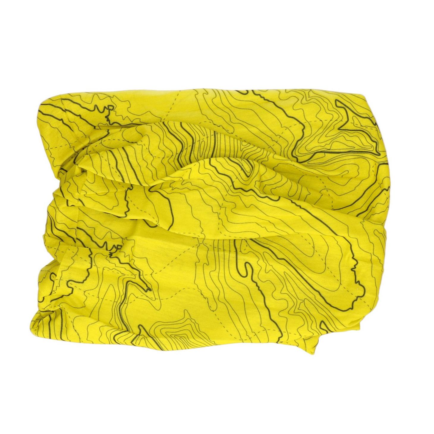 Multifunctionele morf sjaal geel met contour print voor volwassen