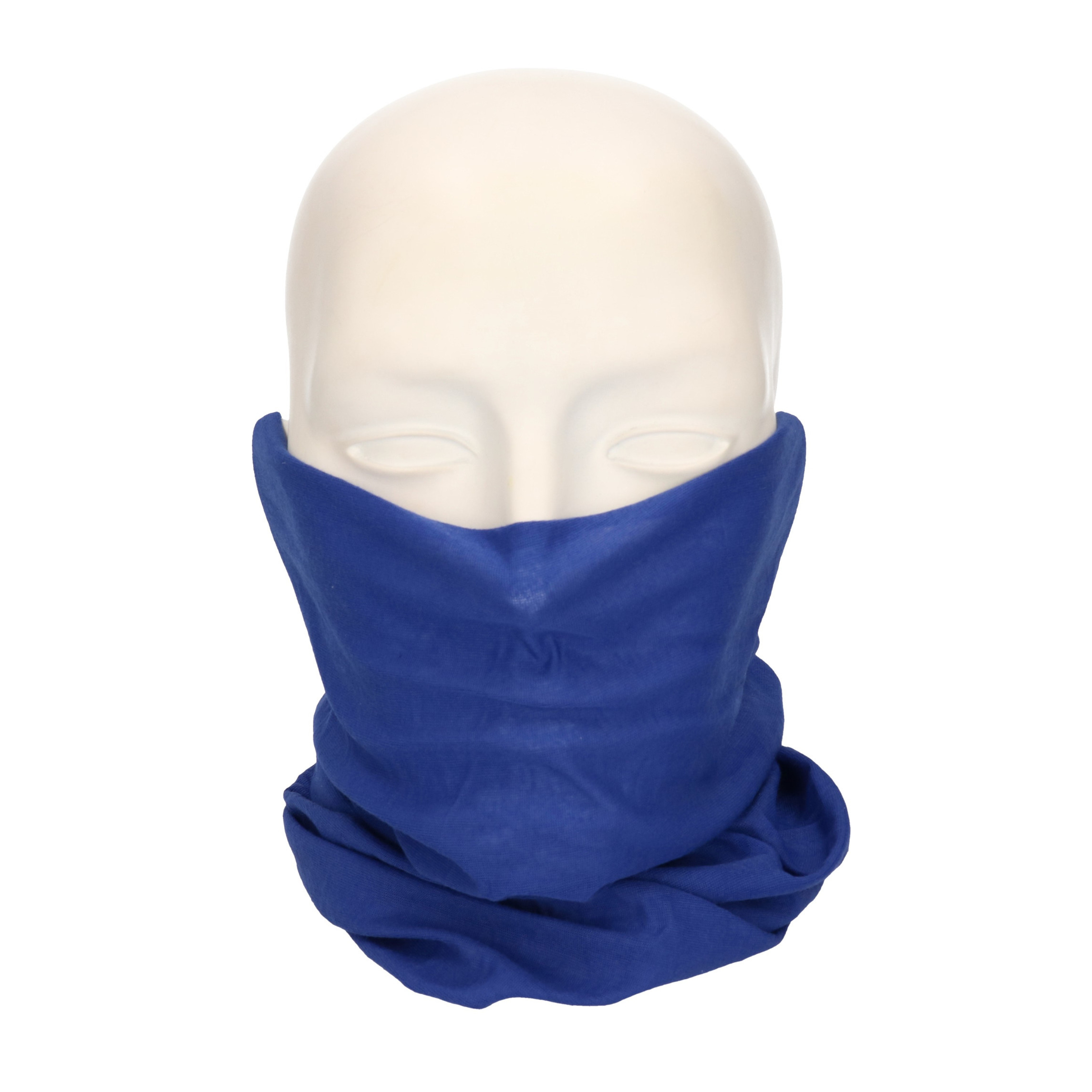Multifunctionele morf sjaal indigo blauw