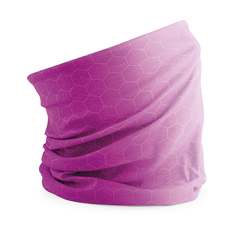 Multifunctionele morf sjaal roze met geometrische print voor volwassen