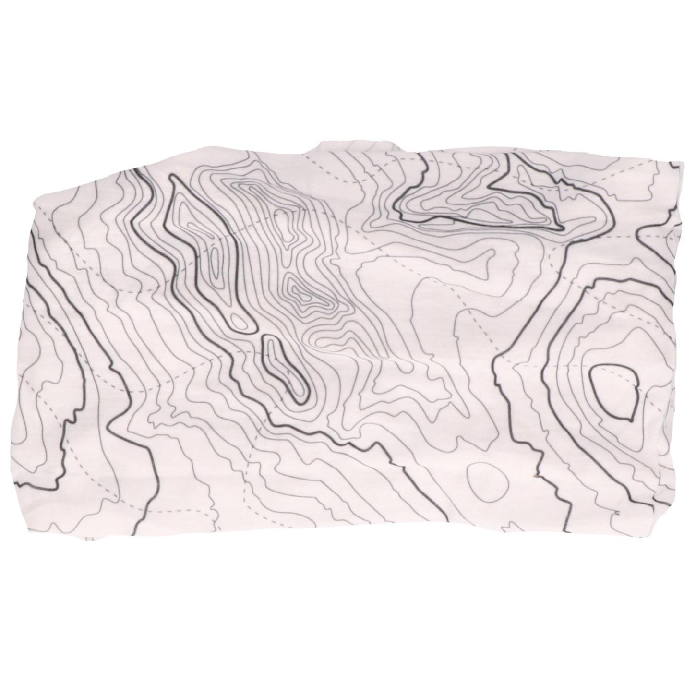 Multifunctionele morf sjaal wit met contour print voor volwassen