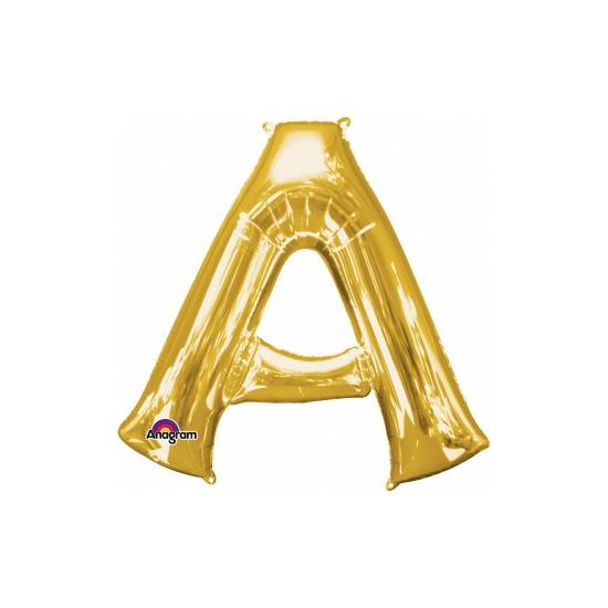 Naam versiering gouden letter ballon A