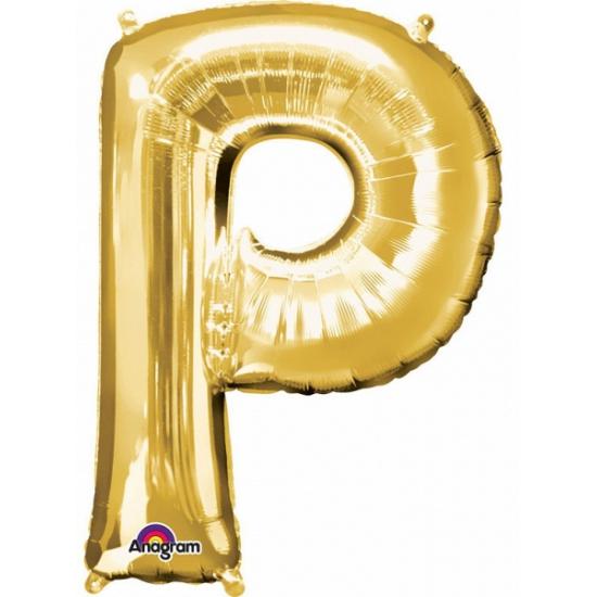 Naam versiering gouden letter ballon P