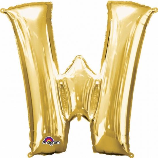 Naam versiering gouden letter ballon W