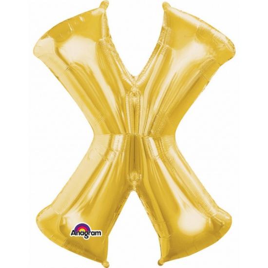 Naam versiering gouden letter ballon X