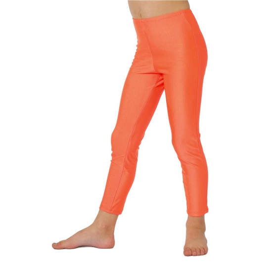 Neon oranje kinder leggings