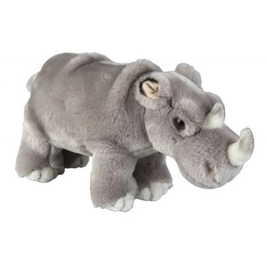 Neushoorns speelgoed artikelen neushoorn knuffelbeest grijs 28 cm
