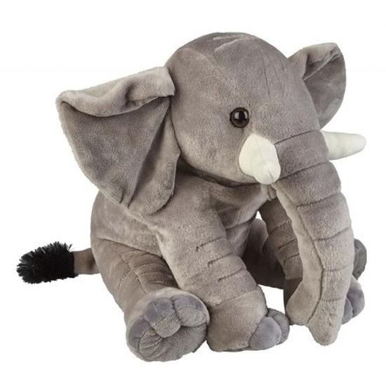 Olifanten speelgoed artikelen olifant knuffelbeest grijs 38 cm