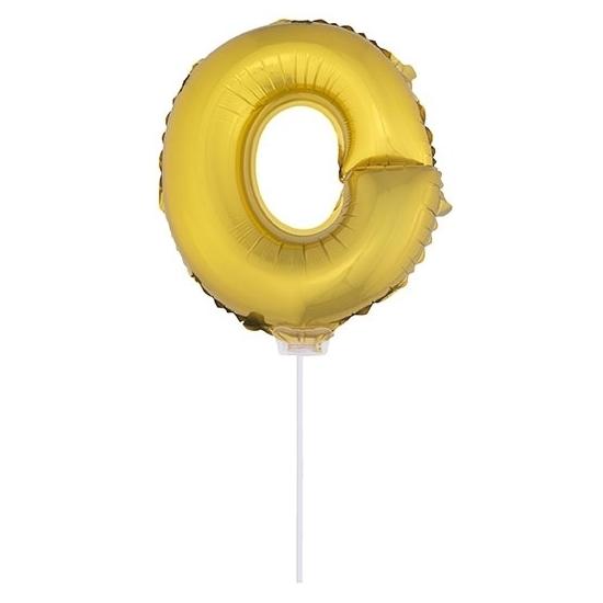 Opblaas letter ballons op stokje