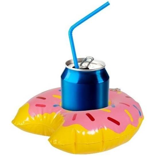 Opblaasbare drankhouder donut 17 cm