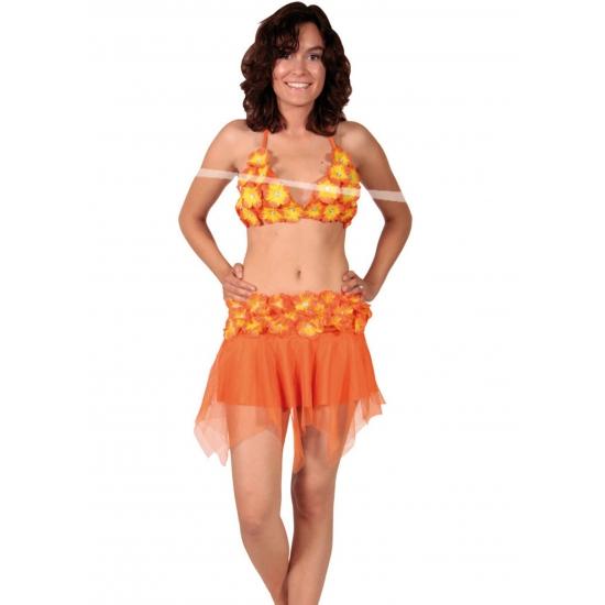 Oranje bikini en rokje