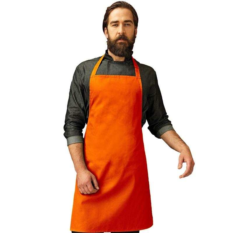 Oranje keukenschort
