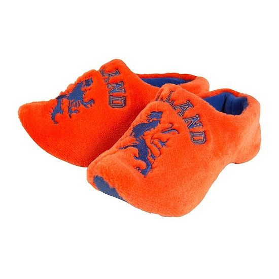 Oranje klompen pantoffels