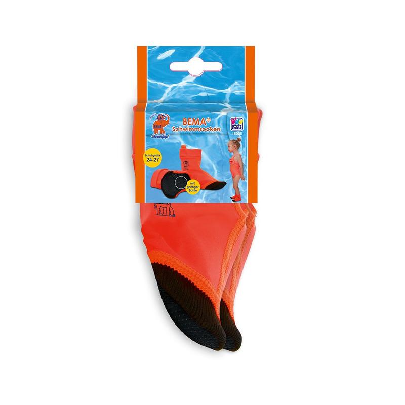 Oranje zwembad sokken maat 24-27