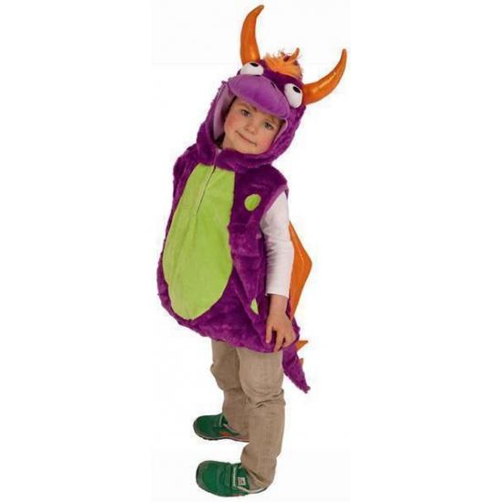 Paarse drakenoutfit voor kinderen