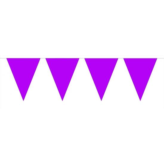 Paarse vlaggentjes slinger 10 meter