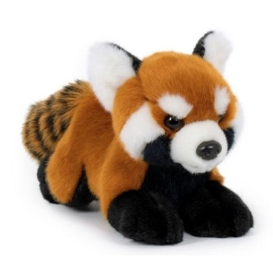 Panda speelgoed artikelen panda knuffelbeest rood 20 cm