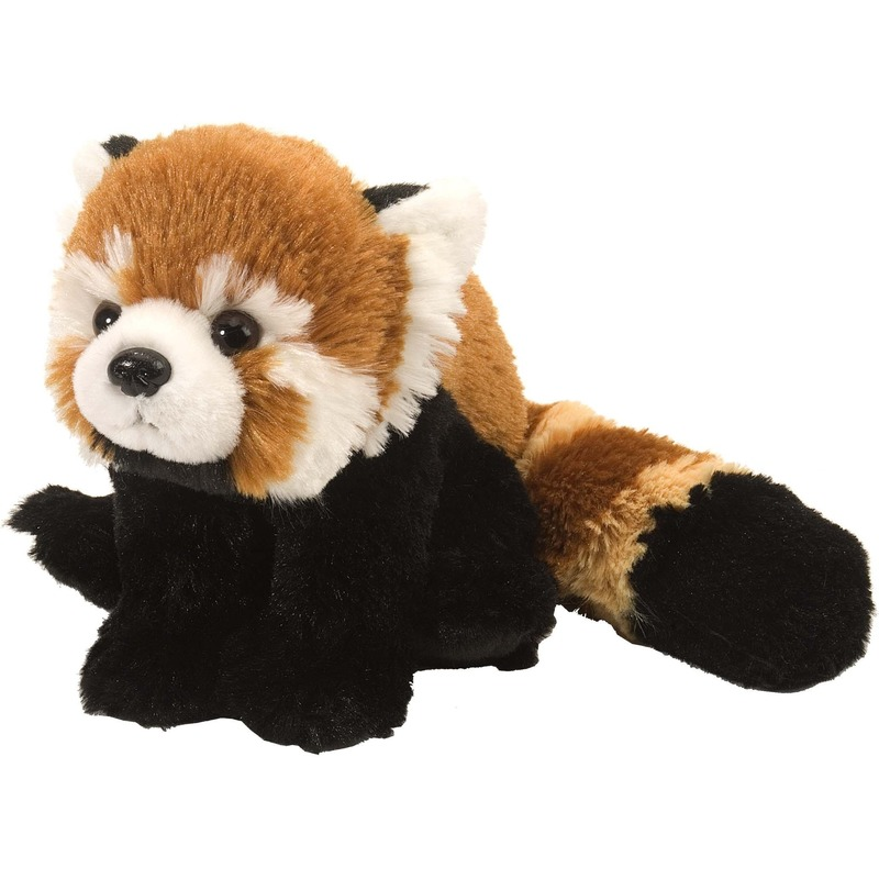 Panda speelgoed artikelen panda knuffelbeest rood 34 cm