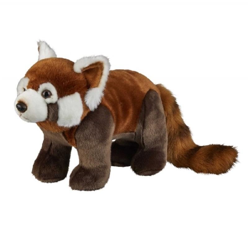 Panda speelgoed artikelen panda knuffelbeest rood 50 cm