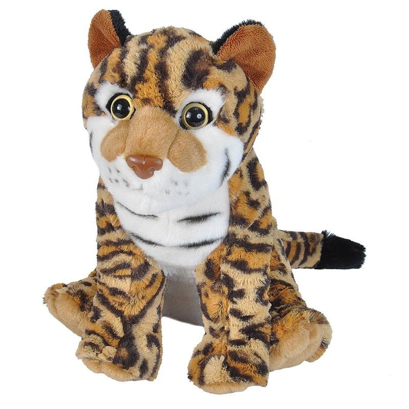 Pardelkatten speelgoed artikelen ocelot knuffelbeest bruin 35 cm