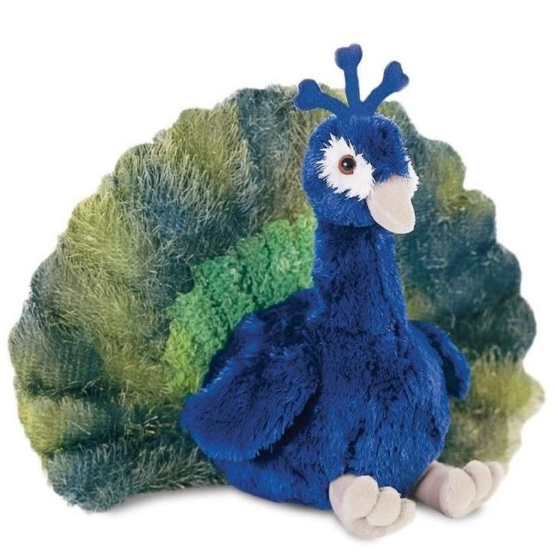 Pauwen speelgoed artikelen pauw knuffelbeest 30 cm