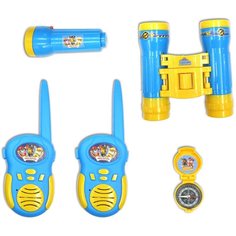 Paw Patrol walkie talkies/verrekijker/kompas voor kinderen