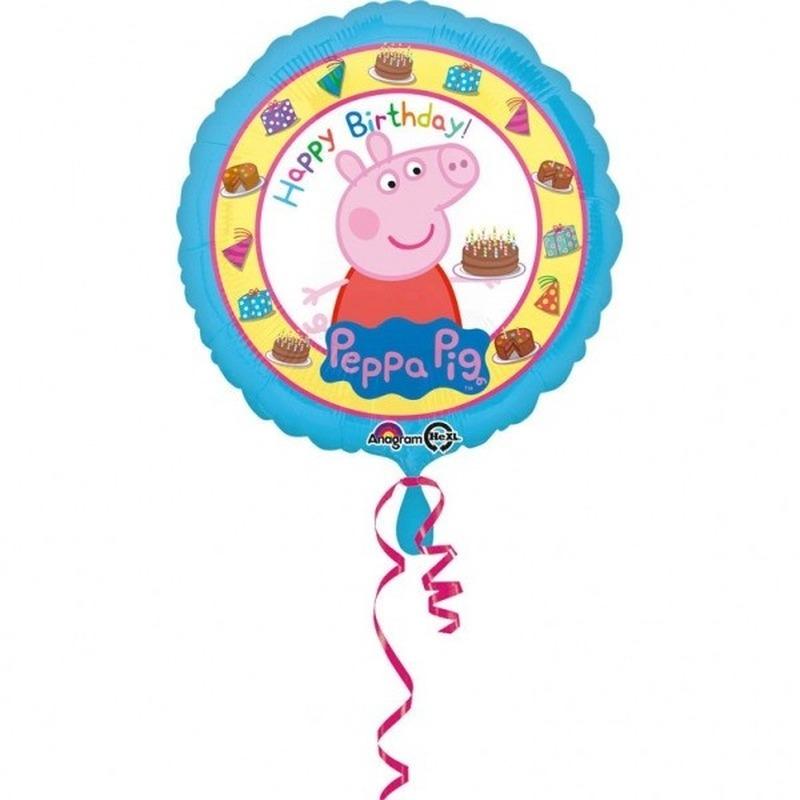 Peppa Pig themafeest folie ballon 43 cm