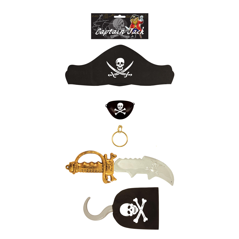 Piraten speelgoed verkleed set voor kinderen 5-delig