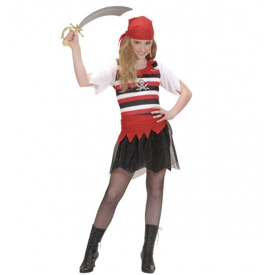 Piraten/zeerovers meisjes kostuum
