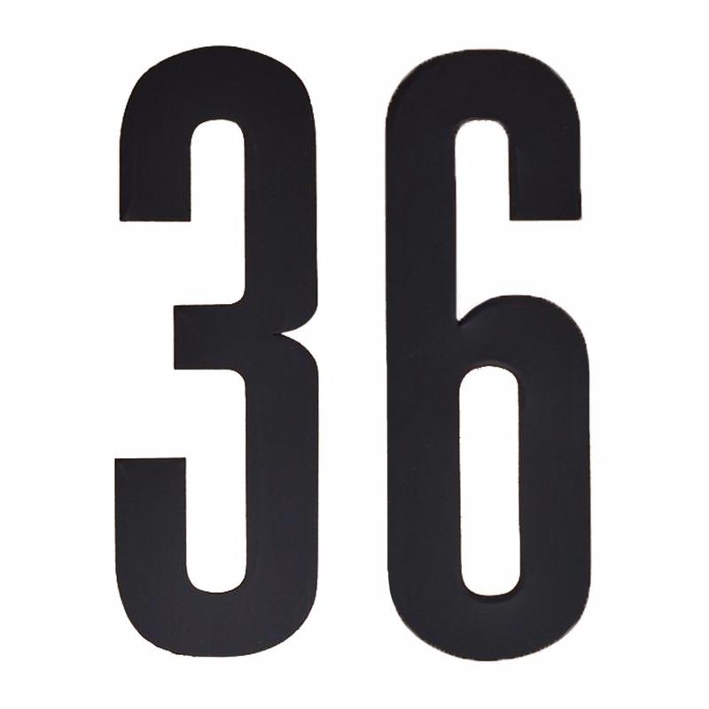 Plakcijfers 36 zwart 10 cm