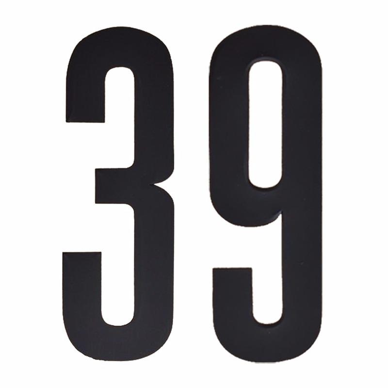 Plakcijfers 39 zwart 10 cm