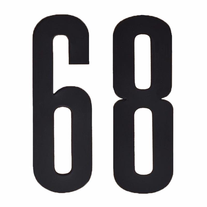 Plakcijfers 68 zwart 10 cm