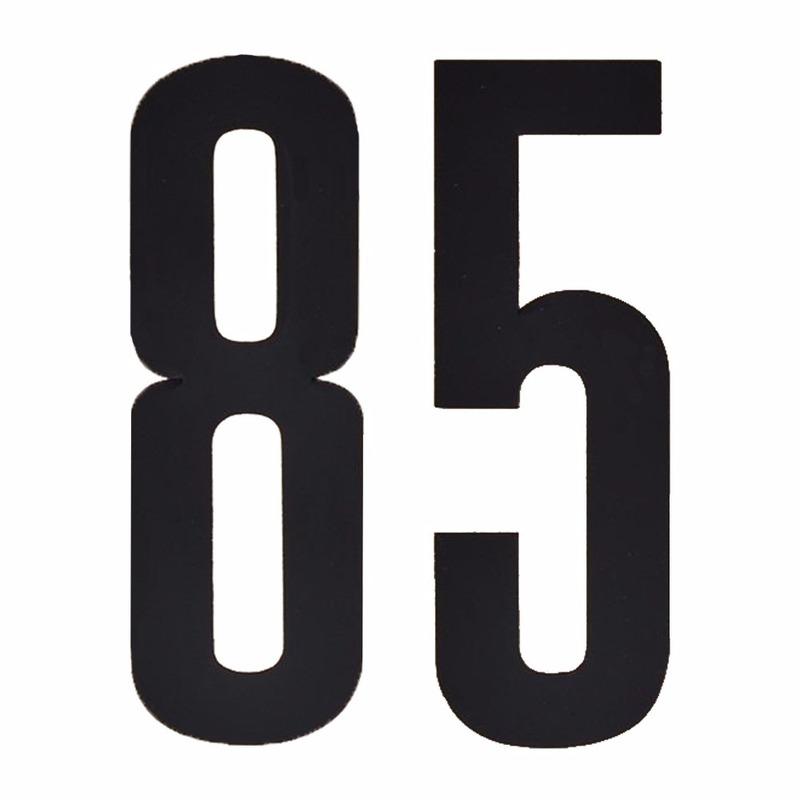 Plakcijfers 85 zwart 10 cm