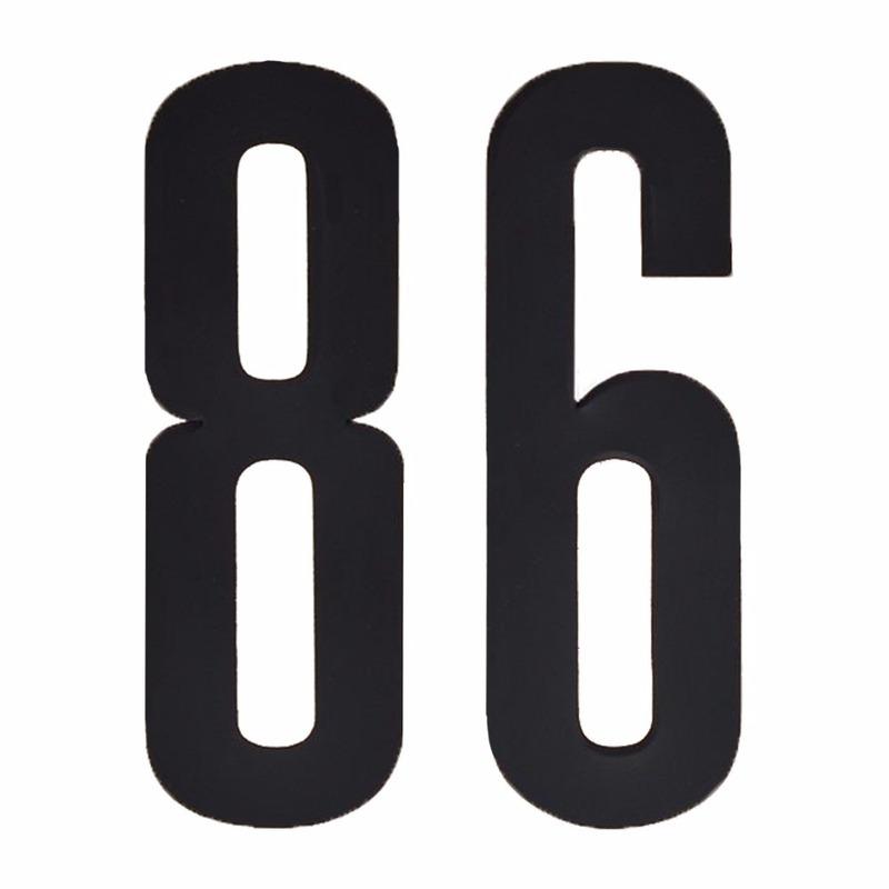Plakcijfers 86 zwart 10 cm