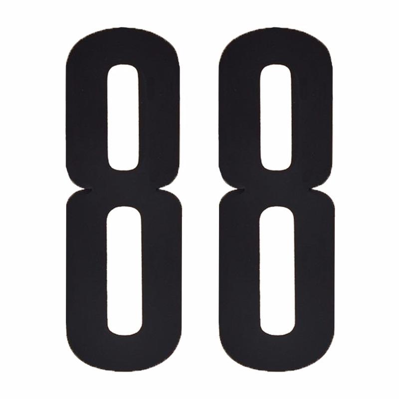 Plakcijfers 88 zwart 10 cm