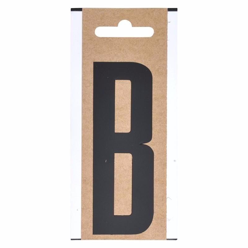 Plakletter B zwart 10 cm