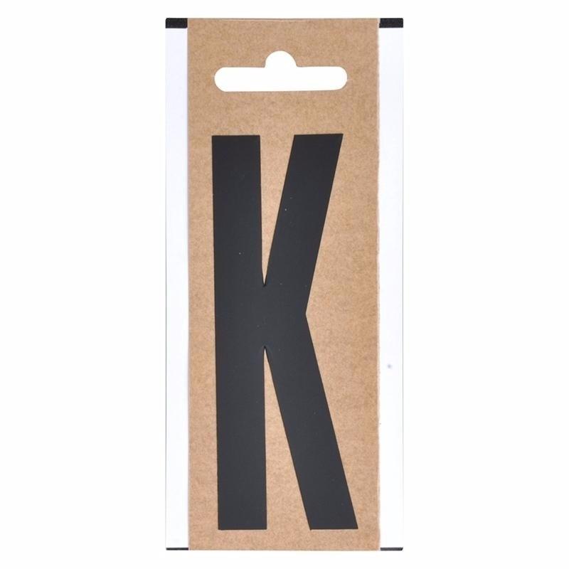 Plakletter K zwart 10 cm