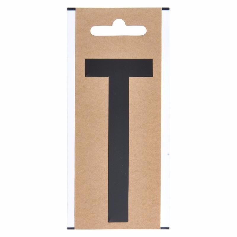 Plakletter T zwart 10 cm