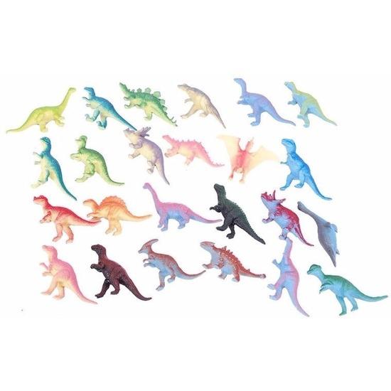 Plastic dinosaurussen 12x stuks van ongeveer 6 cm