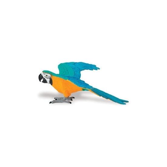 Plastic geel/blauwe papegaai 10 cm