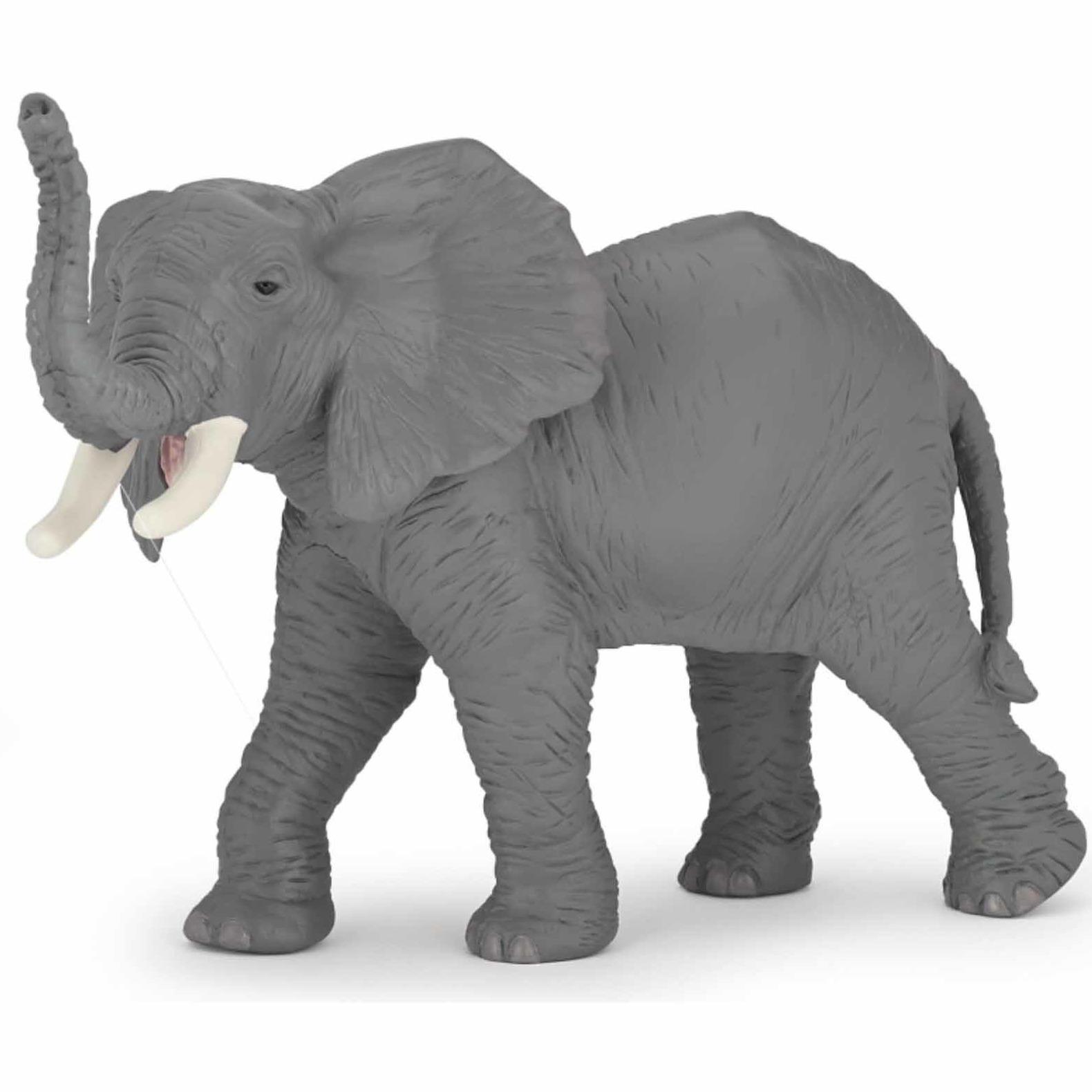 Plastic grijze Afrikaanse olifant 15 cm