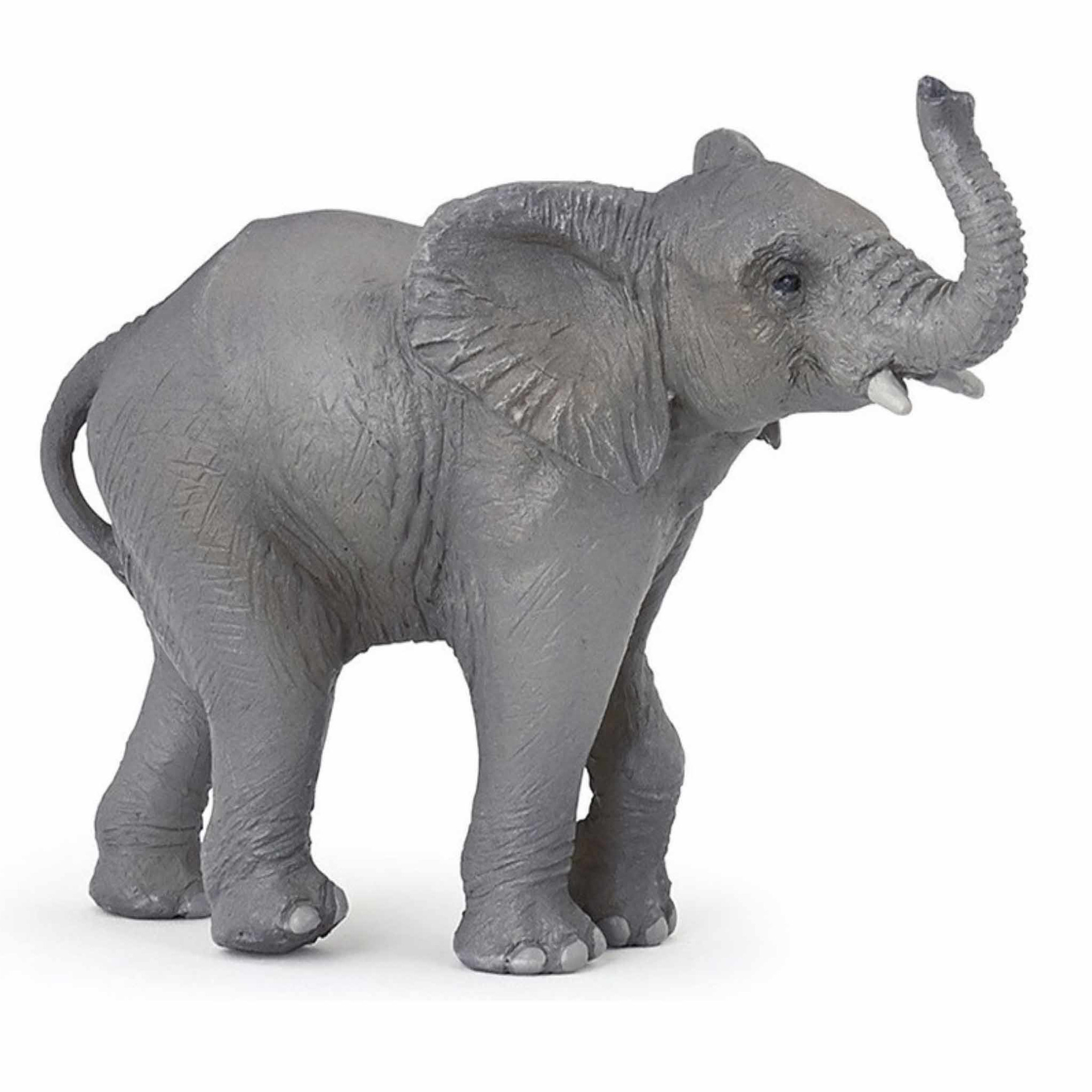 Plastic olifantjes 10 cm