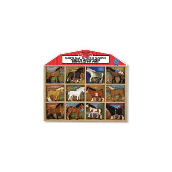 Plastic paarden set
