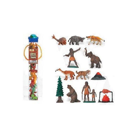 Plastic poppetjes oermens 12 stuks