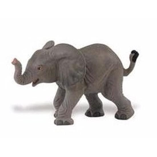 Plastic speelgoed figuur Afrikaanse olifant kalfje 8 cm